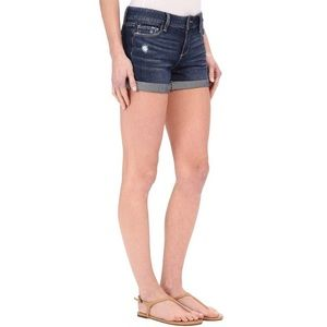 Paige Distressed Cuffed Denim Jean Shorts 31
